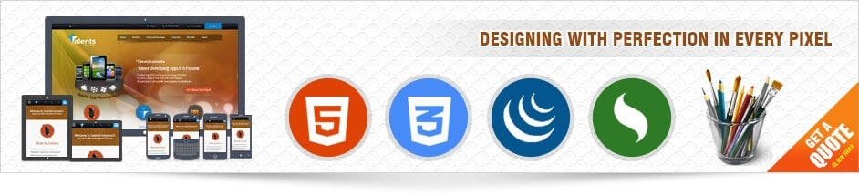 front end development banner